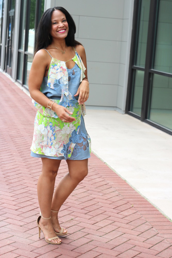 Laser Cut Floral Dresses