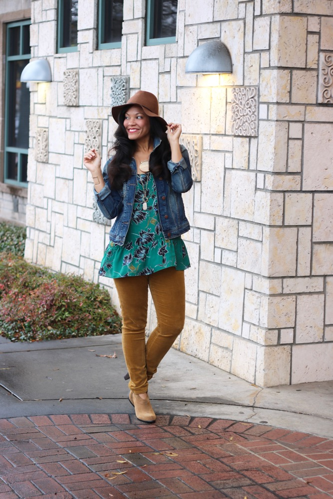 Wearing Florals in the Winter