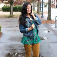 Wearing Florals in the Winter + cabi