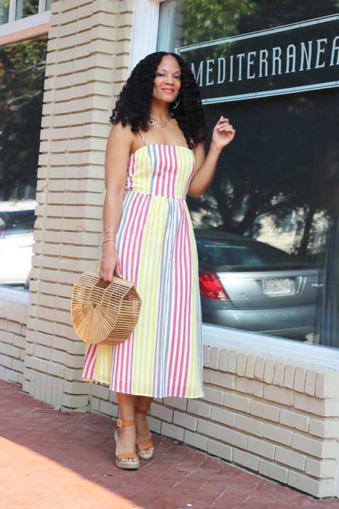 Favorite Striped Midi Dress