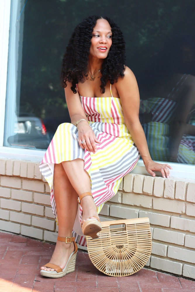 Favorite Striped Midi Dress