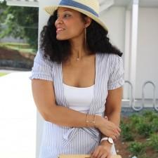 Pretty Striped Dress for a Summer Picnic