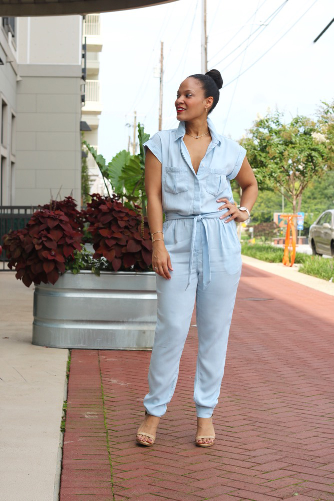 Chic Way to Wear a Chambray Jumpsuit