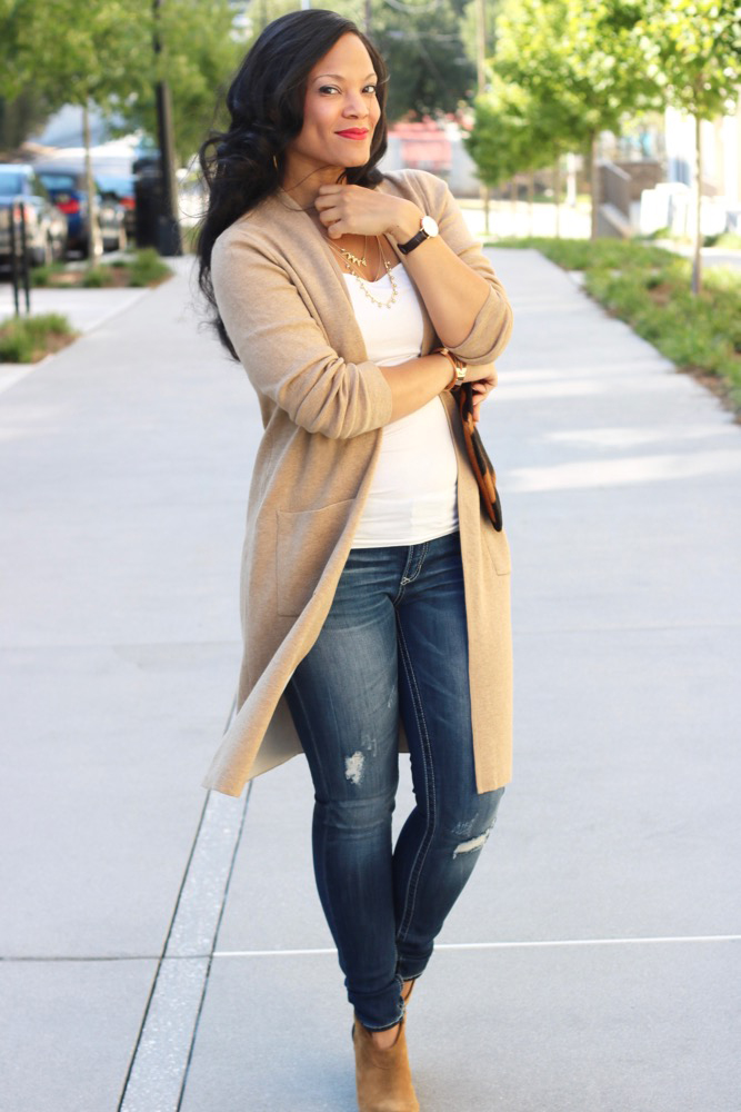 Long Cardigans Make it Easy to Transition into Fall